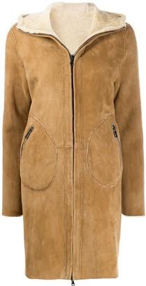 Giorgio Brato zip front shearling coat