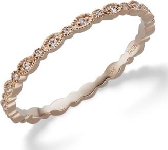 Maria Tash Marquise Micropave Diamond Ring