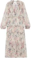 Zimmermann Jasper Ruffle-trimmed Floral-print Silk-crepon Dress - Cream