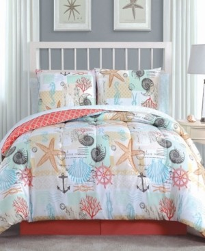 Geneva Home Fashion Belize 8 Pc King Bed In A Bag Bedding