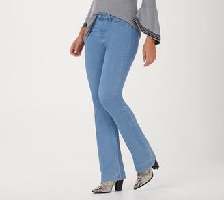 Laurie Felt Tall Silky Denim Flare Pull-On Jeans