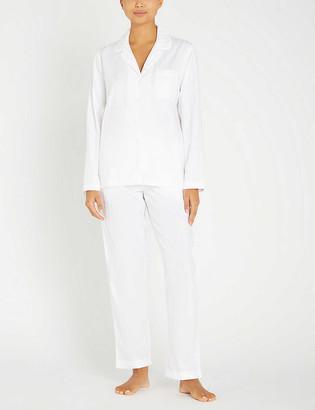 The White Company Classic Cotton striped cotton-jersey pyjama set