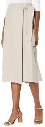 Vince High-Waisted Belt Skirt (Heather Oatmeal) Women's Skirt