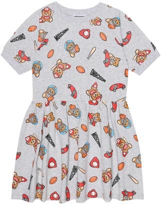 MOSCHINO BAMBINO Printed stretch-cotton dress