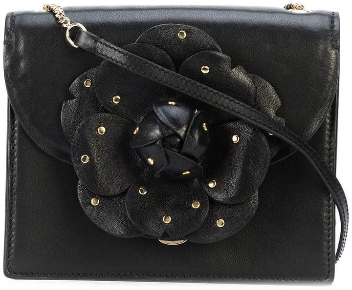 Rina embellished crosshatch leather crossbody bags bags