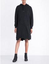 Izzue Asymmetric cotton-blend dress