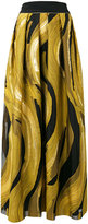 Alberta Ferretti printed pleated skirt
