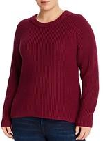 Aqua Curve Shaker-Stitch Raglan-Sleeve Sweater - 100% Exclusive