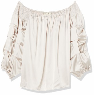 Forever 21 Women's Plus Size Satin Off-The-Shoulder Top