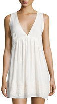 Romeo & Juliet Couture Embroidered Contrast Dress, White