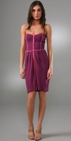 Milly Zip Front Strapless Dress