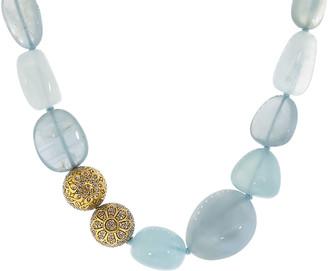 Buddha Mama Graduated Aquamarine Necklace