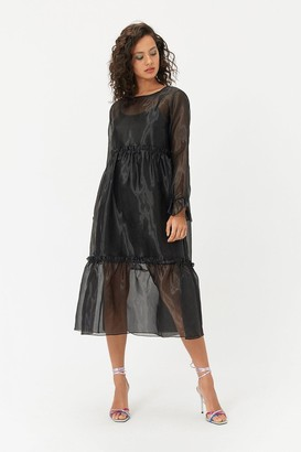Coast Long Sleeve Organza Sack Dress