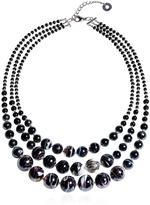 Antica Murrina Veneziana Optical 1 Top - Black Murano Glass Choker