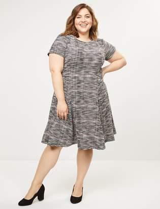 Lane Bryant Tweed Fit & Flare Dress