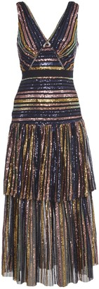 Self-Portrait Long Multicolor Sequins Dresss