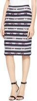 St. John Striped Kesi Knit Pencil Skirt