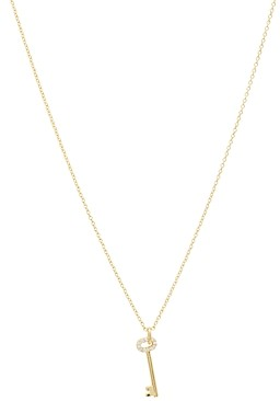 Gorjana Kara Key Pendant Necklace, 16-18