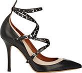 "Valentino Women's ""Love Latch"" Ankle-Strap Pumps-BLACK"