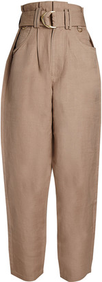 Aje Overture Belted Linen Pant