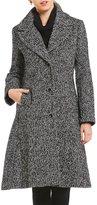 MICHAEL Michael Kors Single Breasted Tweed Wool Coat