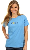 Life is Good Love Tennis Crusher Tee (Spring Blue) - Apparel