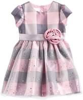 Bonnie Jean Toddler Girl Plaid Sparkle Dress