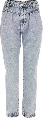 River Island Girls Blue tinted Mom high rise jeans