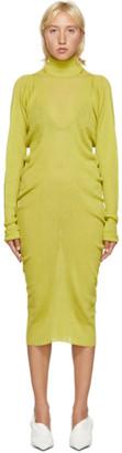 Bottega Veneta Green Rib Seamless Dress