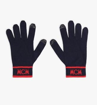 MCM Intarsia Logo Wool Gloves