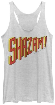 Fifth Sun Dc Shazam Text Logo Women's Racerback Tank