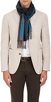Colombo Men's Plaid Cashmere Scarf-TURQUOISE