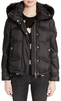 Burberry Women's Wiltondale Puffer Jacket With Genuine Fox Fur Trim