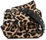 No.21 leopard print abstract bow shoulder bag