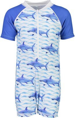 Snapper Rock Shark One-Piece Rashguard Swimsuit