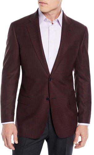 Emporio Armani Men's Textured Wool Two-Button Blazer