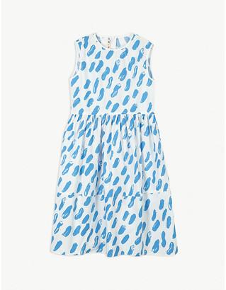Marni Paint stroke print cotton sleeveless dress 4-14 years
