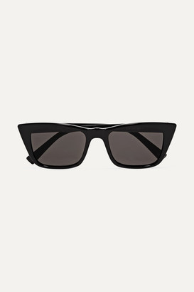Le Specs I Feel Love D-frame Acetate Sunglasses - Black