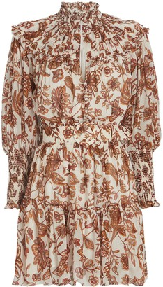Nicholas Abbey Floral Paisley Mini Dress