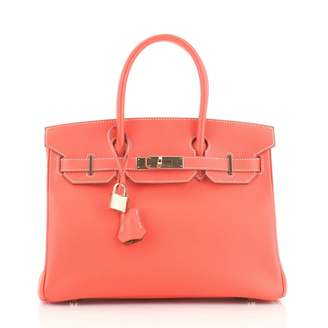 Hermes Pink Leather Handbags