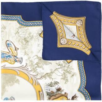 Hermes 1980s Petite Venerie scarf