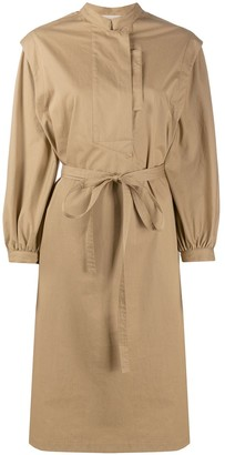 Maison Flaneur Tie Waist Shirt Dress