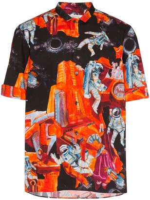 Valentino Space-Print Shirt