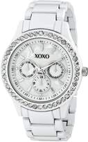 XOXO Women's Enamel Bracelet With Rhinestones Accent Watch XO5411