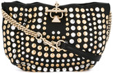 Sonia Rykiel studded shoulder bag - women - Lamb Skin/metal/glass - One Size
