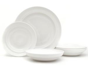 Euro Ceramica White Essential Pasta Bowls and Serve Set