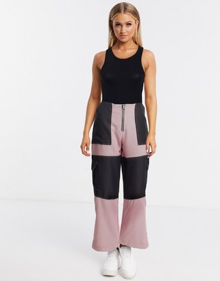 The Ragged Priest gingham pants with black side panels