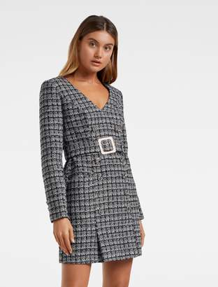 Ever New Celine Belted Boucle Dress