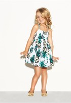 Milly Minis Pineapple Bow Tank Dress