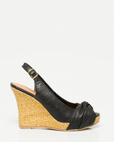 Le Château Leather-Like Slingback Wedge